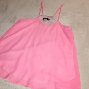Neon pink blouse